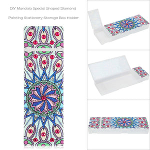DIY Mandala Special Shaped Diamond Painting 2 Grids Students Pencil Case