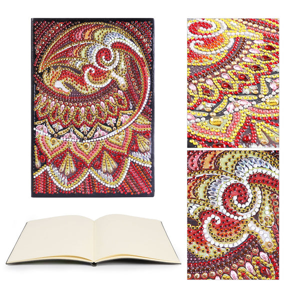 DIY Pterosaur Special Shaped Diamond Painting 50 Pages A5 Sketchbook Crafts