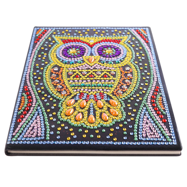 DIY Owl Special Shaped Diamond Painting 50 Pages A5 Sketchbook Drawing Book
