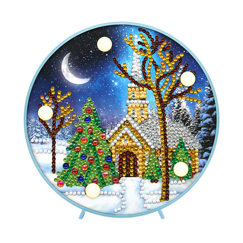 DIY Special Shaped Diamond Painting Christmas Tree House Light Home Decor