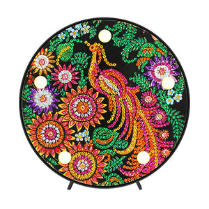DIY Special Shape Diamond Painting Peafowl Light Embroidery Home Decor