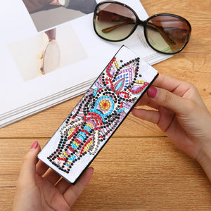 DIY Diamond Painting Sunglasses Case Portable Leather Glasses Storage Box