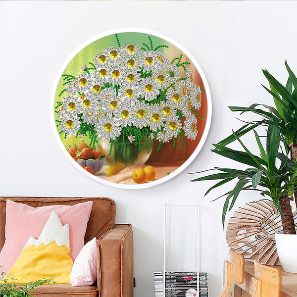 Daisy Mural Pink Tassels Special Shape DIY Diamond Painting Home Wall Decor