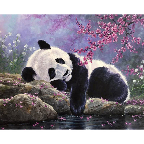 Diamond Painting - Full Round - Sleeping Panda