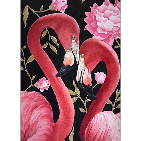 Diamond Painting - Full Round - Flamingo