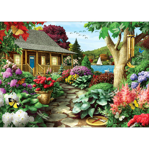 Diamond Painting - Full Round - Beautiful Yard