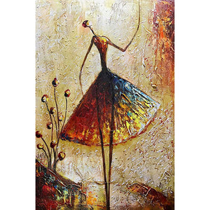 Diamond Painting - Full Round - Dancing Woman