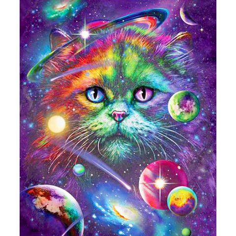 Diamond Painting - Full Round - Colorful Cat