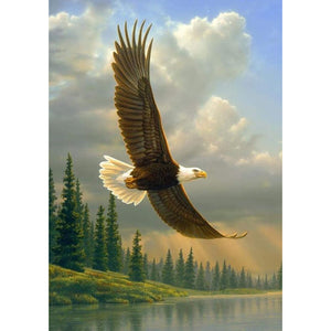 Diamond Painting - Full Round - Flying Eagle