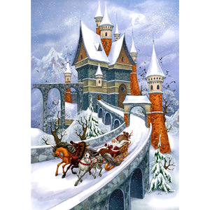Diamond Painting - Full Round - Santa Castle