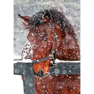 Diamond Painting - Full Round - Snow Horse