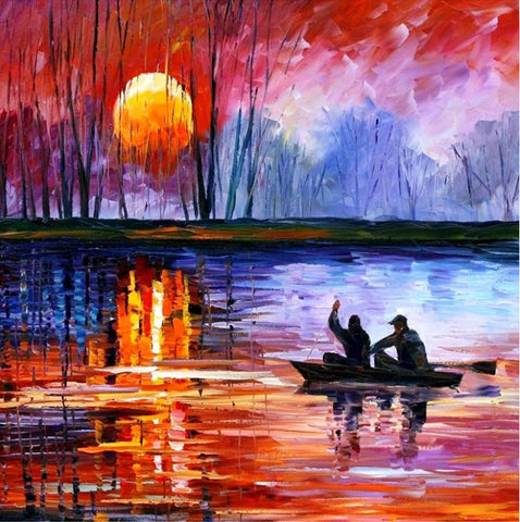 Diamond Painting - Full Round - Sunset Lake