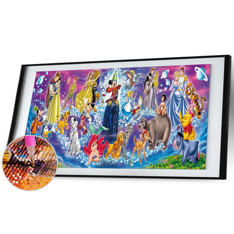 Diamond Painting - Full Round - Disney Family (100*50cm)