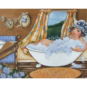 Diamond Painting - Full Round - Bathing Girl