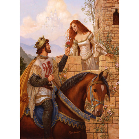 Diamond Painting - Full Round - Princess and Knight