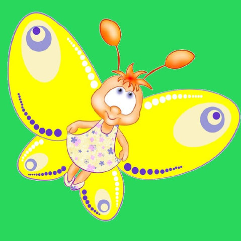 Diamond Painting - Full Round - Cartoon Butterfly