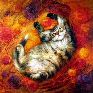 Diamond Painting - Full Round - Cat
