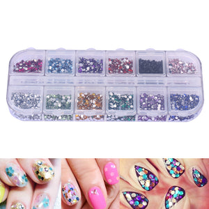 3600pcs Nail Art Rhinestones Decoration 1.5mm Round Glitters With Hard Case