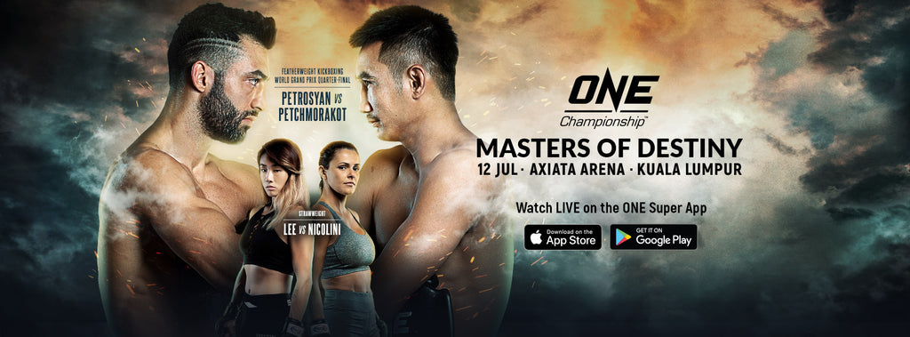 "Petchmorakot returns to action in the main event of ONE: MASTERS OF DESTINY against Giorgio ""The Doctor"" Petrosyan in the ONE Featherweight Kickboxing World Grand Prix quarterfinals"