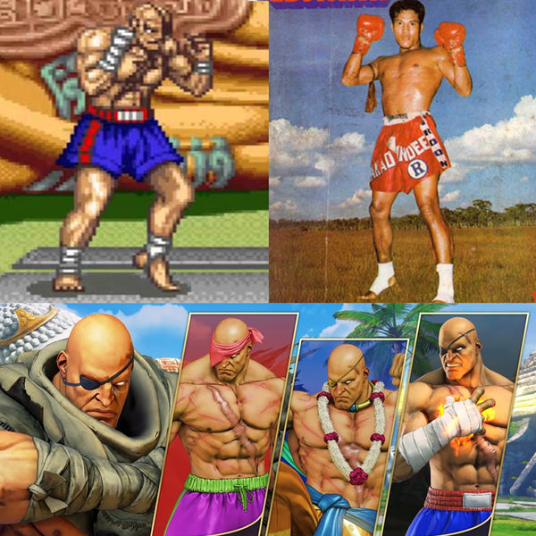 Sagat of Street Fighter and Sakad Pontawee