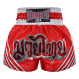 Kombat Muay Thai Boxing Red Shorts With White Stripe
