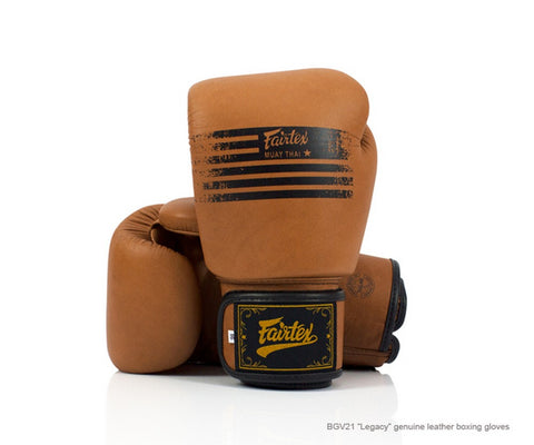 "Fairtex BGV21 ""Legacy"" Genuine Leather Boxing Gloves"