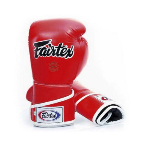 Fairtex Boxing Gloves BGV6 Stylish Angular Sparring Gloves – Locked Thumb Red