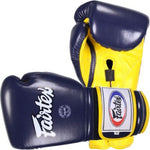 Fairtex Muay Thai Boxing Gloves BGV9 Mexican Style Blue & Yellow
