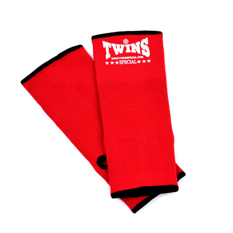 Twins Special Muay Thai Ankle Supports Red AG