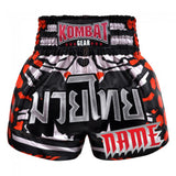 Custom Kombat Gear Muay Thai Boxing Geometry Shorts With Red Black White
