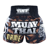 Custom TUFF Muay Thai Boxing Shorts New Brown Military Camouflage