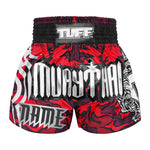 Custom TUFF Muay Thai Boxing Shorts New Red Military Camouflage