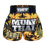 Custom TUFF Muay Thai Boxing Shorts New Yellow Military Camouflage