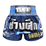 Custom TUFF Muay Thai Boxing Shorts Blue War Elephant