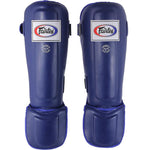 Fairtex Muay Thai Shin Guards  In-Step  Double Padded Blue Syntek leatherProtector SP3