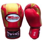 TWINS Special Fancy Boxing Gloves Leather Red FBGV-46