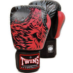 Twins Special Fancy Boxing Gloves Wolf Black-Red FBGV-50