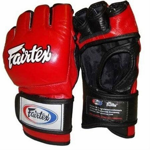FAIRTEX MMA GLOVES ULTIMATE COMBAT ENCLOSED THUMB FGV13 Red