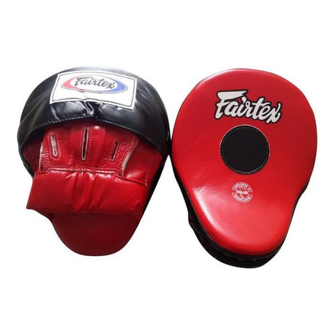 WHITE//BLACK or RED//BLACK or YELLOW//BLACK FMV9 FAIRTEX CURVED CONTOURED FOCUS MITTS