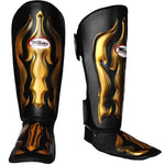 Twins Special Shin Guard Protector Fancy FSG-22 Black Gold