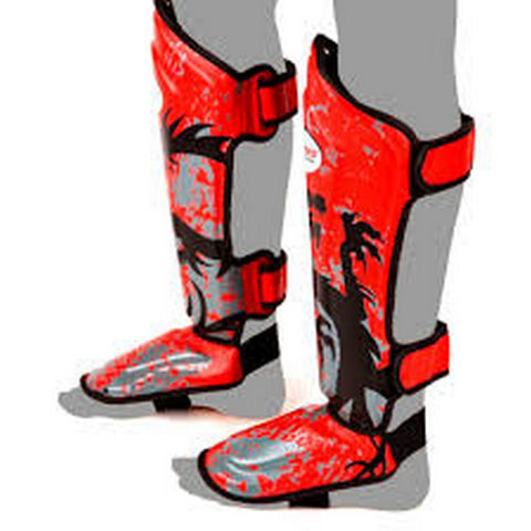 Twins Special Shin Guard Protector Fancy FSG-36 Red