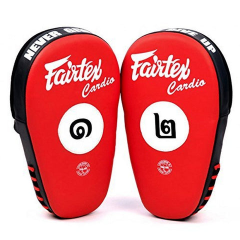 Fairtex FMV12 Angular Focus Mitts Red Black