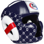 Fairtex Muay Thai Super Sparring Head Guard Blue HG10