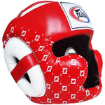 Fairtex Muay Thai Super Sparring Head Guard Red HG10