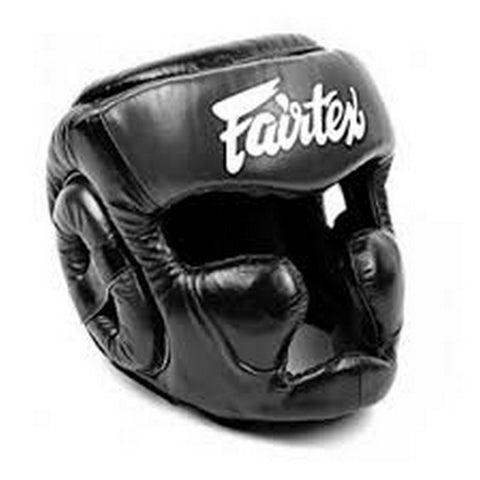 Fairtex Diagonal Vision Sparring Headguard HG13F Black