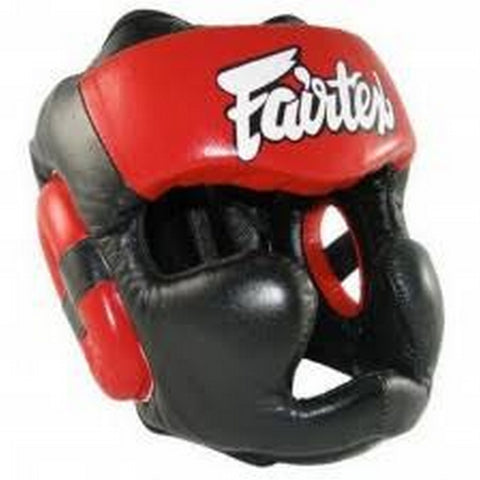 Fairtex Diagonal Vision Sparring Headguard HG13F Black & Red