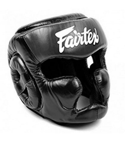 Fairtex Diagonal Vision Sparring Headguard Lace-Up Top HG13L