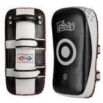 Fairtex KPLC3 : Curved Kick Pads Black White