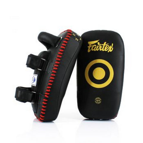 Fairtex KPLC6 Black Gold Muay Thai Boxing MMA Curve Kick Pads