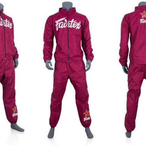 Fairtex VS2 Fairtex Vinyl Sweatsuit Maroon